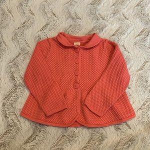 2/$24 Gymboree Coral Knit Cardigan Collar Toddler